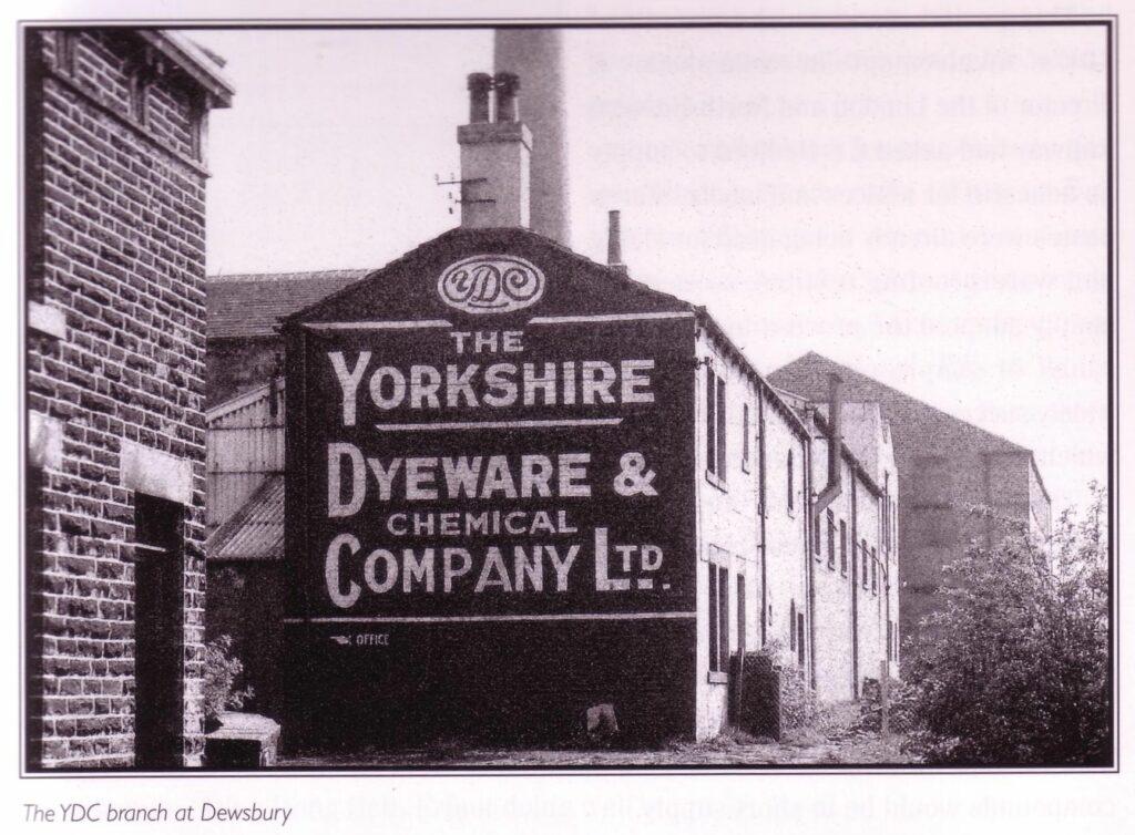 Die YDC Fabrik in Dewsbury - historisches Foto