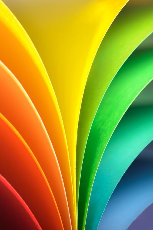 Colorful sheaf of paper